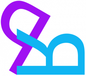 Phil Ruston Design & I.T. logo showing a purple letter 'p' and a blue letter 'r' in positions of disarray
